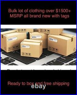 $1,500+ Bulk Wholesale Lot Women's some Men & Kids Clothing Brand Names