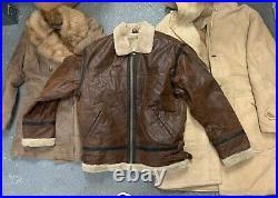 10 X Vintage Shearling Sheepskin Winter Jackets Wholesale Bulk Joblot
