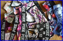 100 Victoria's Secret Love Pink line panty thongs wholesale bulk order lot mix