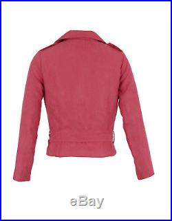 15x Joblot Online Famous Brand Wholesale Clothing Faux SUEDE Biker Belted JACKET