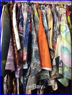 20 pcs Wholesale Job Lot of Vintage Crazy Patterned Shirts