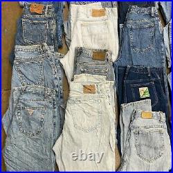 20 x pairs of vintage jeans mom jeans- wholesale bulk job lot