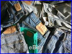 250 Pcs Vintage Levi's Jeans Wholesale Job Lot Random Colours Sizes