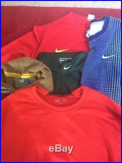 27 Vintage, retro sport branded jumpers / clothing job lot wholesale. Joblot