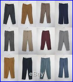 35 x MENS Pleated Turn Up Trousers Pants Chinos Vintage Wholesale Joblot PICS