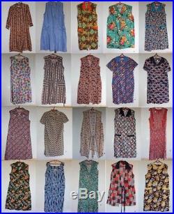 40 Apron Pinafore Dress House Robe Coat Wholesale Joblot Vintage 60s 70s PHOTOS