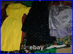 40+ VINTAGE WHOLESALE Dresses Blouses 50s 60s 70s 80s Job Lot