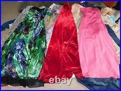 40+ VINTAGE WHOLESALE Dresses Blouses Skirts 60s 70s 80s Job Lot