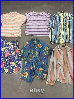 48 Wholesale Vintage Womens Floral Patterned 80s 90s Blouses Mix Job Lot