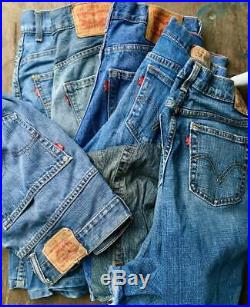 50 Pcs Vintage Levis Shorts Wholesale Random Colours Random Sizes