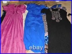 50+ VINTAGE WHOLESALE Dresses Caftans 50s 60s 70s 80s 90s Job Lot