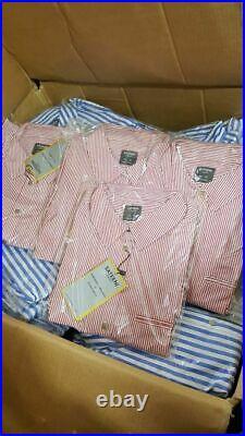 50 x Branded New Women's striped cotton Top Shirt Job lot Wholesale dress Bulk