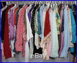 50 x Dirndl Trachten Bavarian Peasant Shirt Blouse Vintage Wholesale Joblot PICS