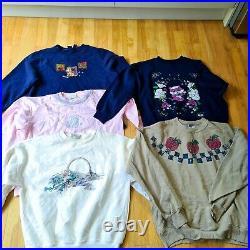 50 x Item Vintage Wholesale Bundle Job Lot Women's Mix Dresses, Sweaters etc