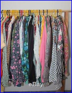 50 x Vintage Womens 60s 70s Hippie Mod Shirts Wholesale Joblot PHOTOS