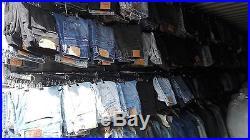 500 Pcs Vintage Levi's Lee, Wrangler Jeans Wholesale Job Lot Random Colours Sizes