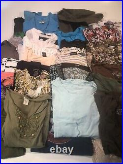 55 Pc Mixed Lot Women's Clothing Sz Lg & XLg Bulk Wholesale Resale Mixed Brands