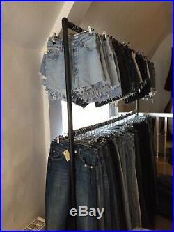 60 X Wholesale Vintage Levi's High Waisted Denim Shorts Hotpants Grade A W24-38