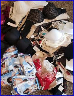 Bra Lot 50 pc ALL NWT Mixed Famous Maker Bras Wholesale NEW Playtex Bali & More
