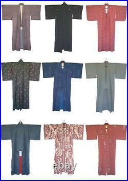 JOB LOT 10x Vintage Japanese Kimono WHOLESALE