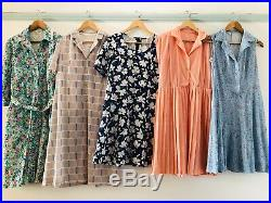 Job Lot #B Wholesale 60 x 70s 80s Vintage Shirt Secretary Tea Dresses A Grade