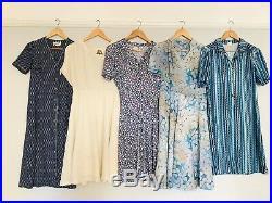 Job Lot Wholesale 60 x 70s 80s Vintage Maxi Shirt Secretary Tea Dresses A Grade