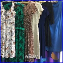 Job lot Bundle of 7 Grade A Vintage Dresses 50s 60s Resell Wholesale Clothes