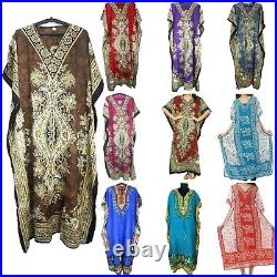 Long Kaftan Wholesale Lot Women One Size Maxi Dress Beach Caftan Poncho