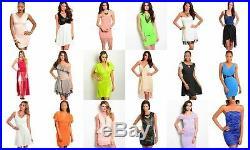 Lot Wholesale 20 Pcs Dresses Tops Bottoms Mixed Womens Clothing Apparel S M L XL