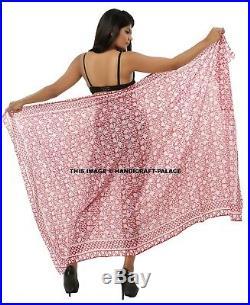 Lot of 30 wholesale pareo dress sarong retro boho fashion scarves cotton Indian