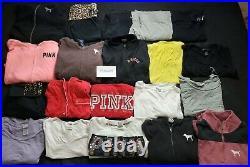 Lot of 50 Wholesale Pink Brand Victorias Secret Womens Clothing Size M L