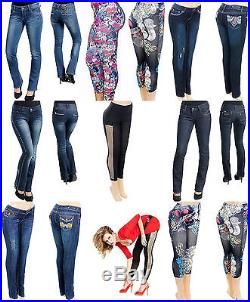 NEW Wholesale Lot 40 PCS Women Jeans Pants Skirts Shorts Leggings Sexy OS S M L