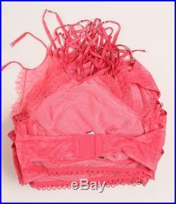 VICTORIA'S SECRET Wholesale Resale Lot of 27 High-Neck Bralette Bra 36C 36D Pink