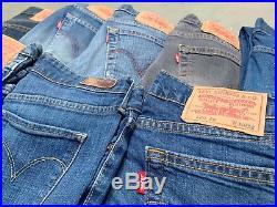 VINTAGE WHOLESALE 100 x LADIES LEVI JEANS WOMENS GRADE A SMALL WAIST LEVI'S
