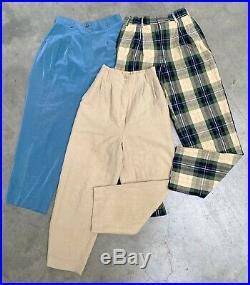 VINTAGE WHOLESALE 50 x LADIES HIGH WAIST PLEATED PANTS TROUSERS 80s 90s 00s