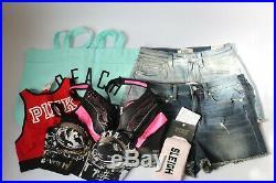 VS Victoria's Secret PINK Wholesale Resale Lot 35 Items Clothing Panties Bra NWT