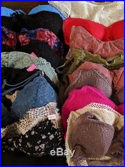 Victoria's Secret VS PINK Lace Push Up Bra Bralette Wholesale 19pc Lot NWT