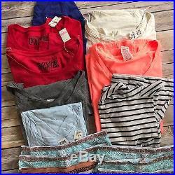 462e15b29 Victorias Secret Pink Lot of 16 Piece New Tops Tanks Panties Wholesale  Resale