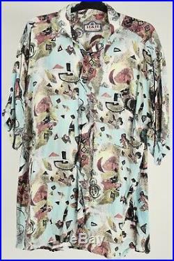 Vintage 90s Crazy Print Shirts Casual Mens Retro Job Lot Wholesale x20 -Lot587