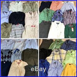 Vintage Branded Shirt, Jumper And Vest Job Lot Bulk Deal Wholesale Mixed Graded