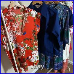 Vintage Clothing Lot Womens 60s/70s/80s Dresses 11 Pieces Wholesale Resell Box