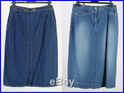 Vintage Denim Skirts Long & Shorts 90s Job Lot Wholesale x20 Pieces -Lot381