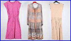 Vintage Dresses 80s 90s Patterned&Coloured Women's Job Lot Wholesale x40 -lot351