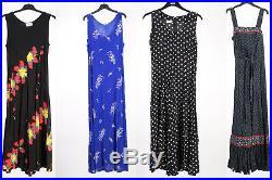 Vintage Dresses 80s 90s Patterned Coloured Women's Job Lot Wholesale x50 -Lot356