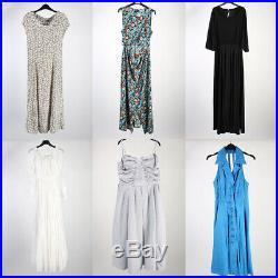 Vintage Dresses 80s 90sPatterned Coloured Women's Job Lot Wholesale x50 -lot350