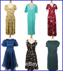 Vintage Dresses Retro 70s 80s 90s Smart Ladies Job Lot Wholesale x23 -Lot666