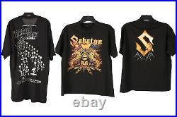 Vintage Punk Gothic T-Shirts Music Black Dark Job Lot Bulk Wholesale x20 -Lot557