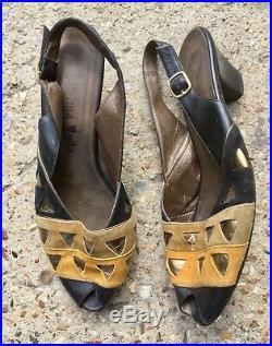 Vintage Shoes Wholesale Job Lot Bulk 80s 70s Kitten Heels Retro Thrift Reselling