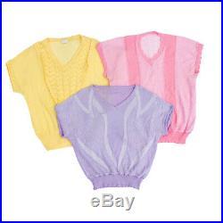 Vintage Short Sleeve Ladies 80's Knit Tops Wholesale Job Lot X 40