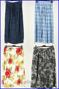 Vintage Skirt Long & Midi Pleated Floral Plain 90s Job Lot Wholesale x50 -Lot631
